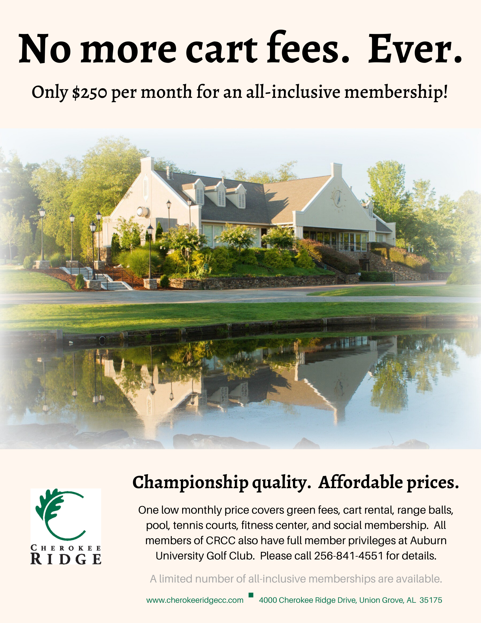 All-Inclusive Membership Flyer
